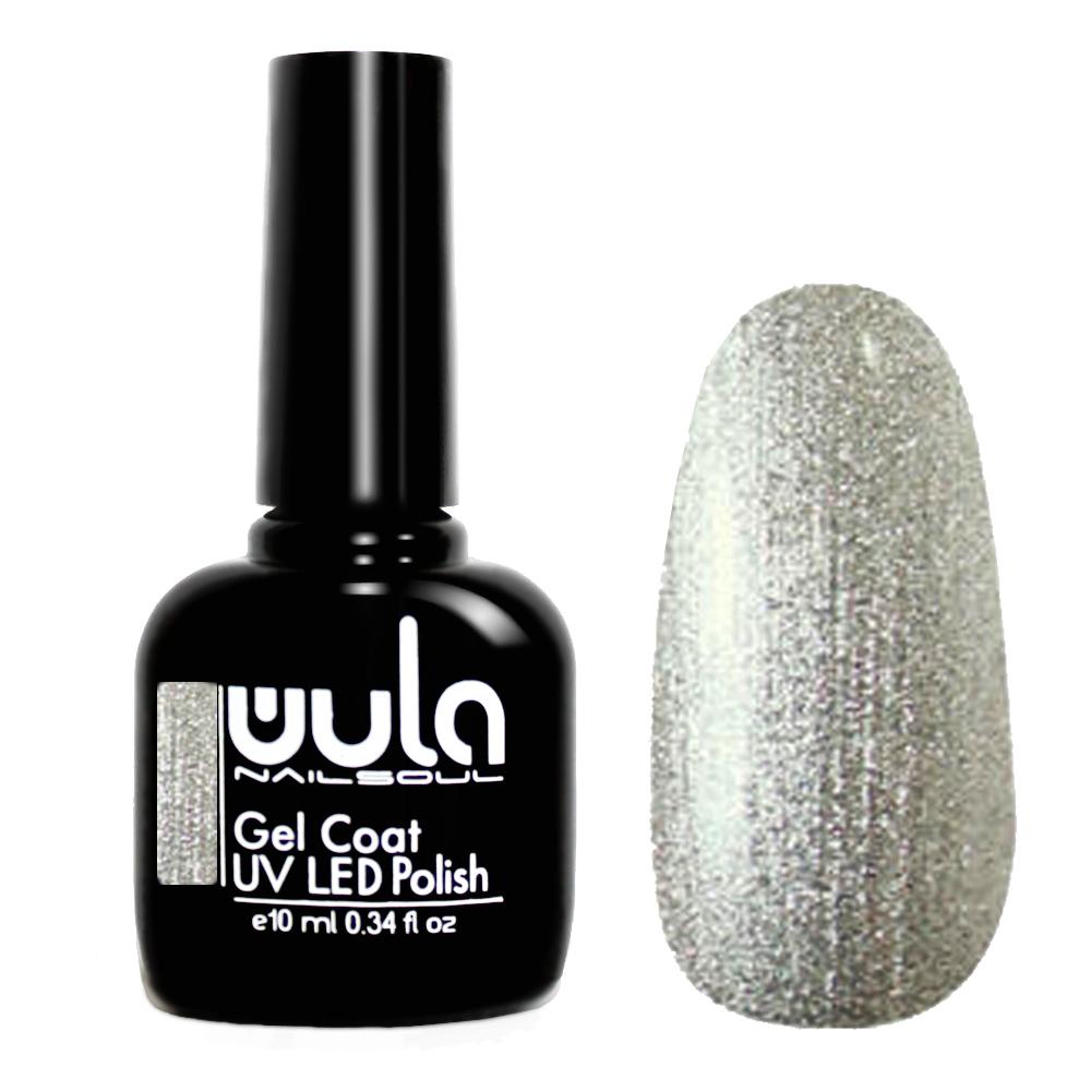 Купить Wula nailsoul гель лак 10мл тон 318 серебряный