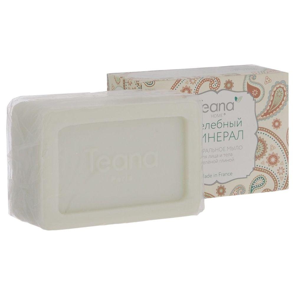 TEANA ЦЕЛЕБНЫЙ МИНЕРАЛ Натуральное мыло для жирной и проблемной кожи лица и тела с зелёной глиной 100 гр