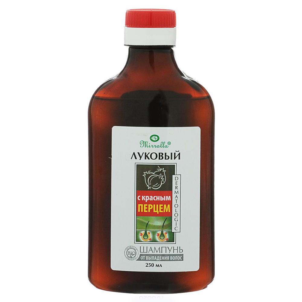 Купить Шампунь луковый с красным перцем против выпадения волос Мирролла 150мл, Mirrolla