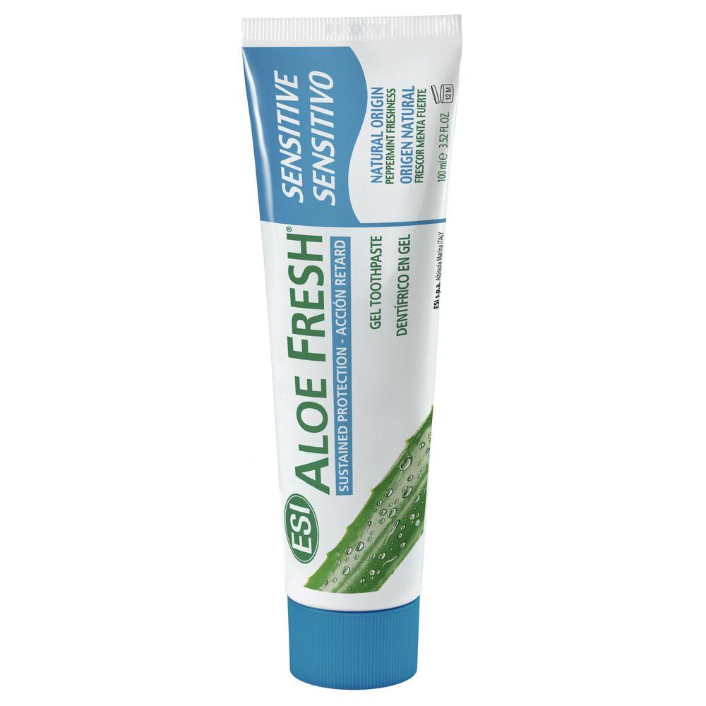 Купить Esi Aloe Fresh Sensitive гелевая зубная паста крепкая мята 100мл