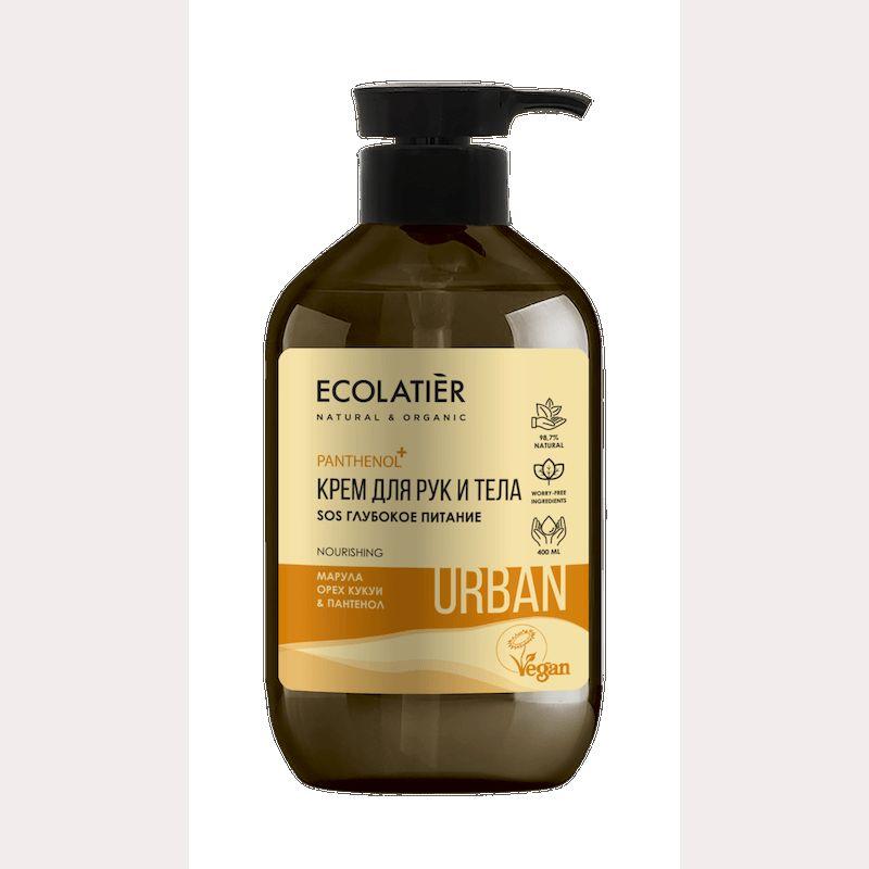 Купить Ecolatier Urban Крем для рук и тела SOS Глубокое питание марула орех кукуи и пантенол 400 мл