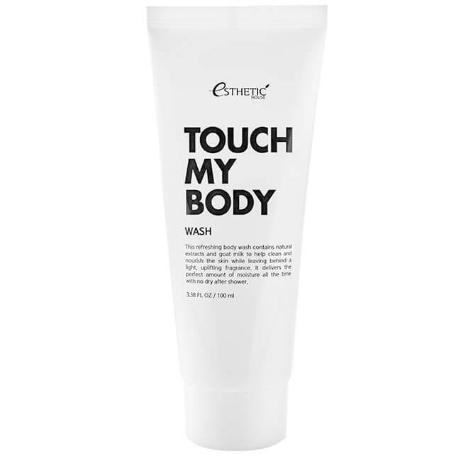 Купить Esthetic House гель для душа с козьим молоком Touch my body goat milk body wash 100мл