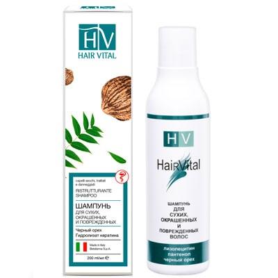 Hair vital шампунь для сухих, окрашенных, поврежденных волос
