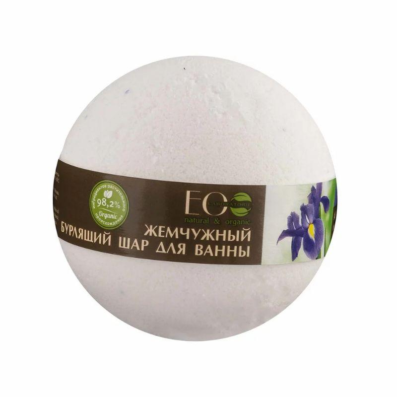 Эколаб Бурлящий шар для ванны Ирис и пассифлора