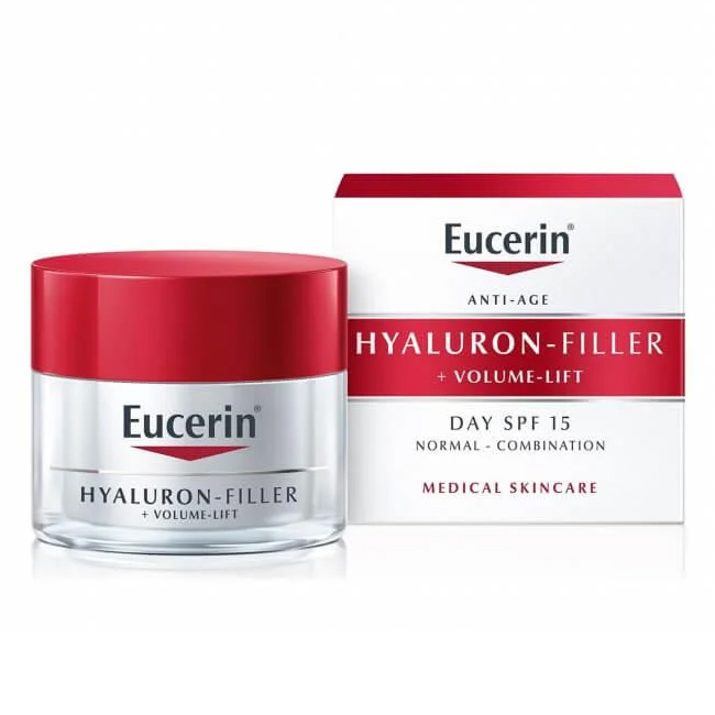 Eucerin Hyaluron-filler+Volume-lift крем для дневного ухода за нормальной и комбинированной кожей 50мл