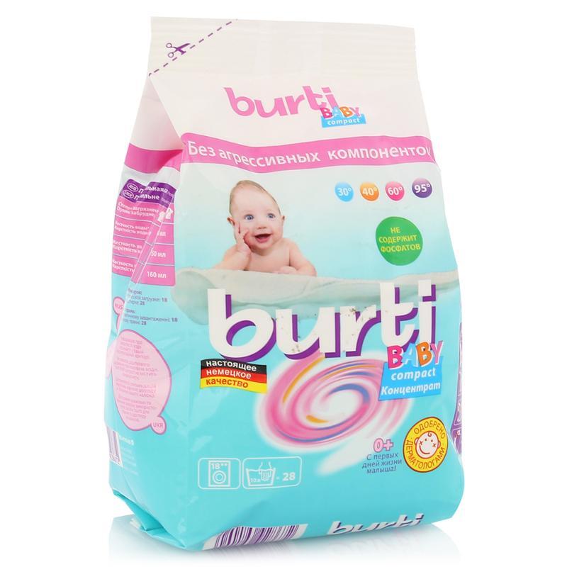 Burti Концентрированный стиральный порошок Burti Compact Baby для детского белья 0.9кг от Лаборатория Здоровья и Красоты