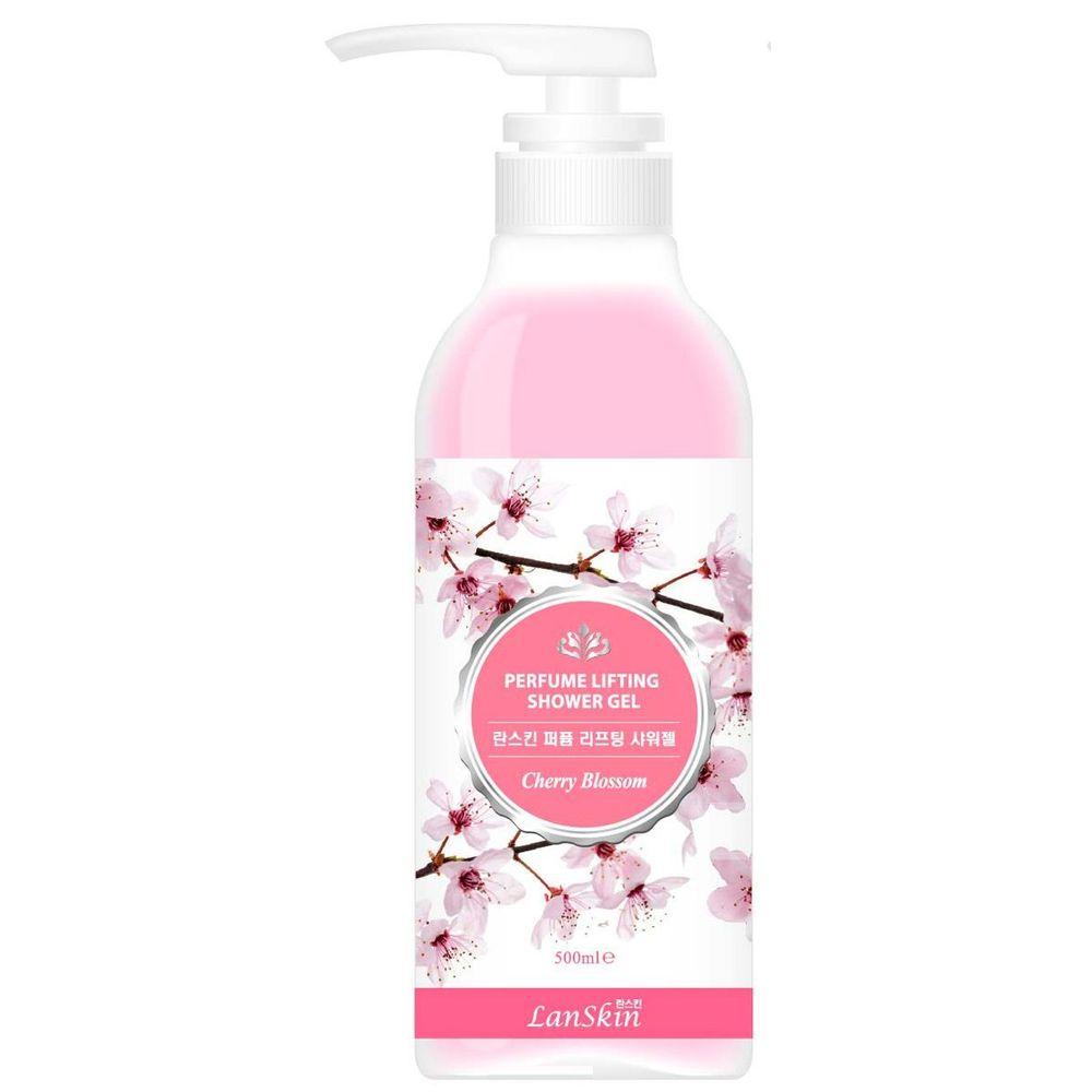 Lanskin парфюмированный лифтинг-гель для душа цветы сакуры 500мл