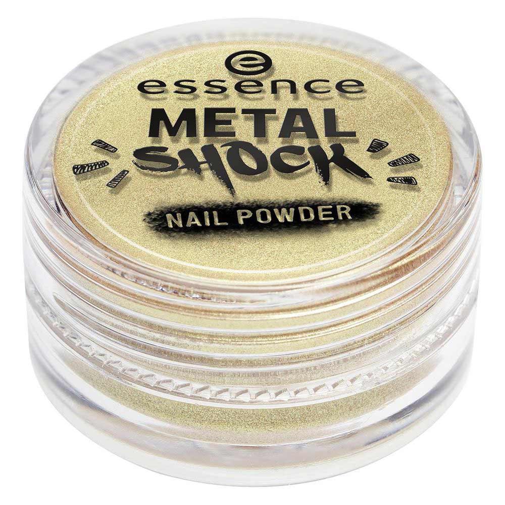 Essence Эффектная пудра для ногтей METAL SHOCK NAIL POWDER тон 04 золотой