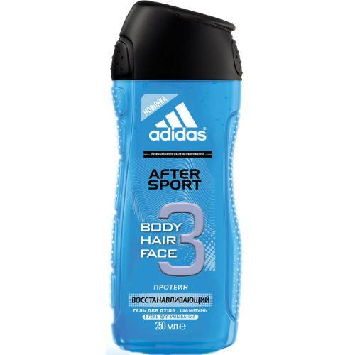 Adidas Body-Hair-Face After Sport гель для душа, шампунь и гель для умывания для мужчин 250 мл от Лаборатория Здоровья и Красоты
