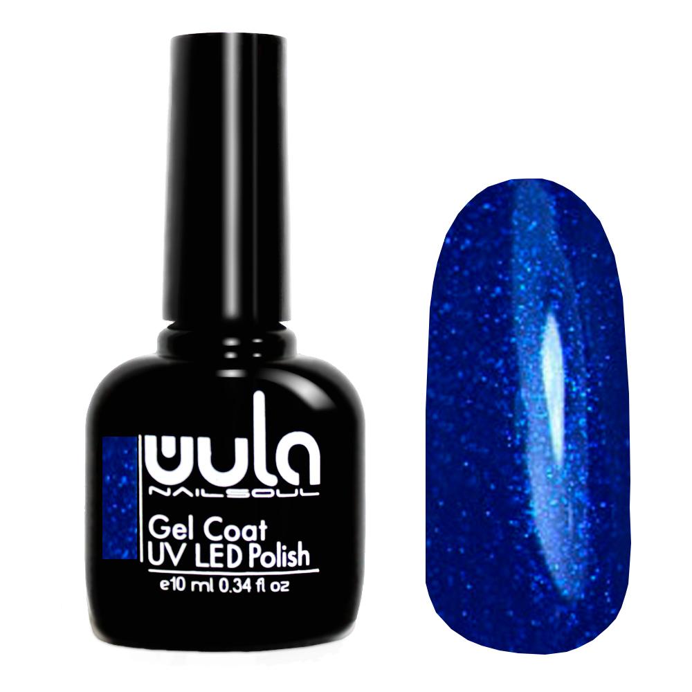 Купить Wula nailsoul гель лак 10мл тон 333 темный ультрамариновый с синим глиттером
