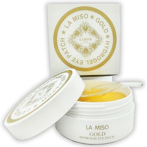 Купить La Miso Gold Hydrogel Eye Patch Гидрогелевая маска с частицами золота для кожи вокруг глаз банка 60шт