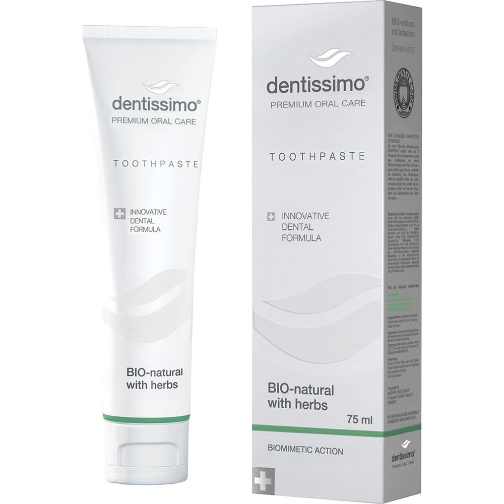 Купить Dentissimo Зубная паста Bio-Natural With Herbs Toothpaste 75мл
