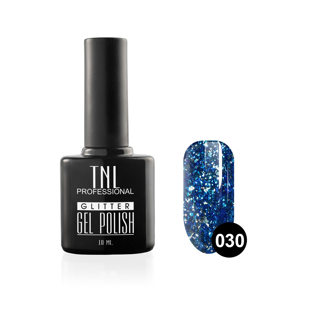 Tnl гель-лак glitter №30 - кобальтовый 10 мл