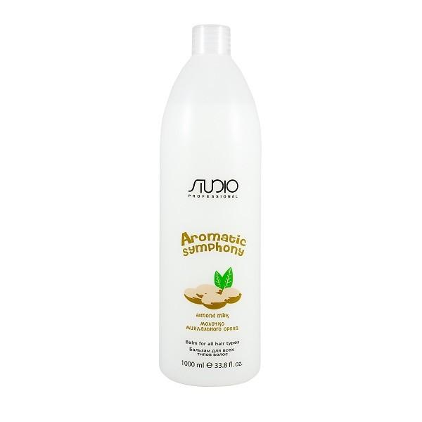 Купить со скидкой Kapous Studio Studio Бальзам для всех типов волос Молочко миндального ореха 1000 мл