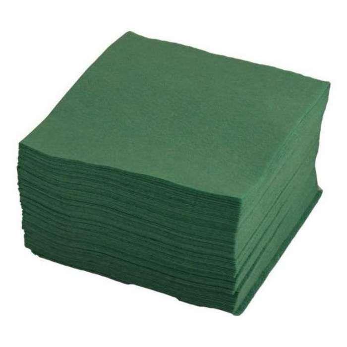 Салфетки бумажные однослойные однотонные зеленые 12х12см 50шт