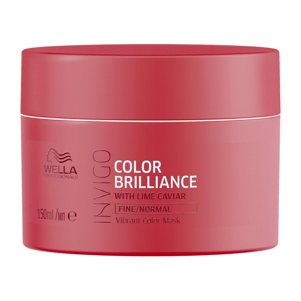 Купить Wella Invigo Color Brilliance Маска-уход для защиты цвета окрашенных нормальных и тонких волос 150мл