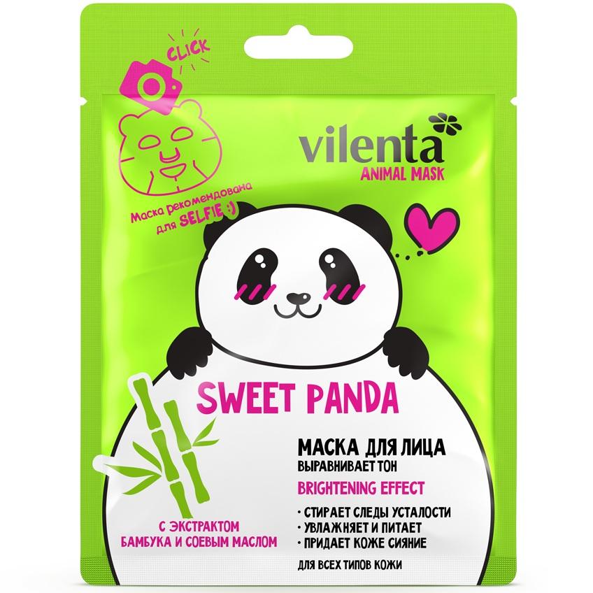 Купить Vilenta animal mask маска для лица sweet panda с экстрактом бамбука и соевым маслом