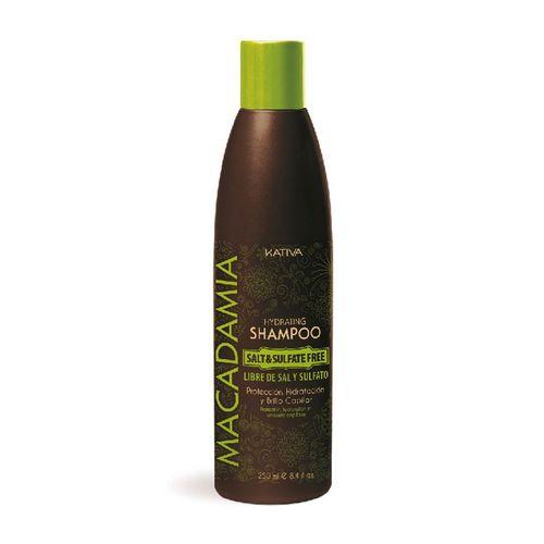 Kativa Macadamia интенсивно увлажняющий шампунь для нормальных и поврежденных волос 250мл фото