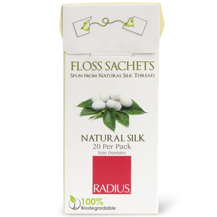 Radius Floss Sachets Natural Silk Biodegradable нить зубная без вкуса в одноразовых упаковках 20шт от Лаборатория Здоровья и Красоты