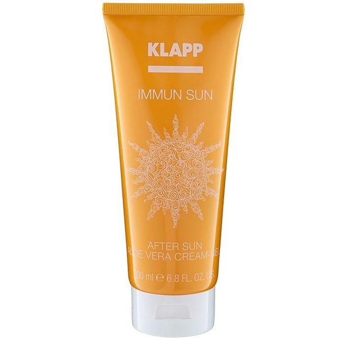 Купить Klapp Успокаивающий крем-гель после загара с алое вера IMMUN SUN After Sun Aloe Vera Cream Gel 200мл
