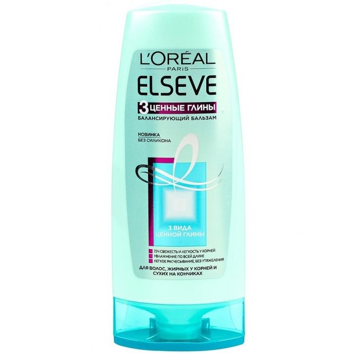 Купить Лореаль ЭЛЬСЕВ (Elseve) Бальзам для волос 3 Ценные глины 200мл, Loreal Paris