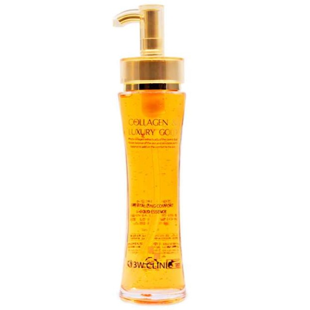 Купить 3W Clinic Collagen & Luxury Gold Revitalizing Эссенция для лица Жидкий Коллаген с золотом 150мл