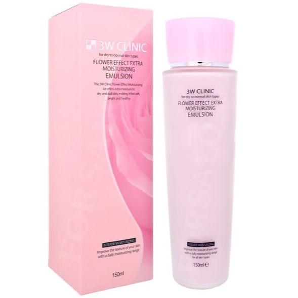 Купить 3W Clinic Увлажнение Эмульсия для лица Flower Effect Extra Moisture Emulsion 150мл