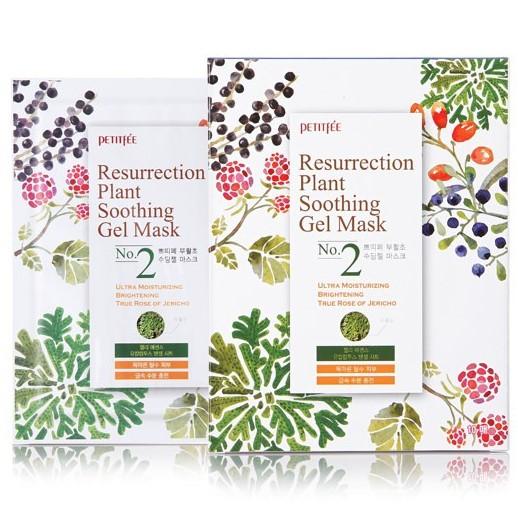 Купить Petitfee Маска для лица тканевая Иерихонская роза Resurrection Plant Soothing Gel Mask 30г