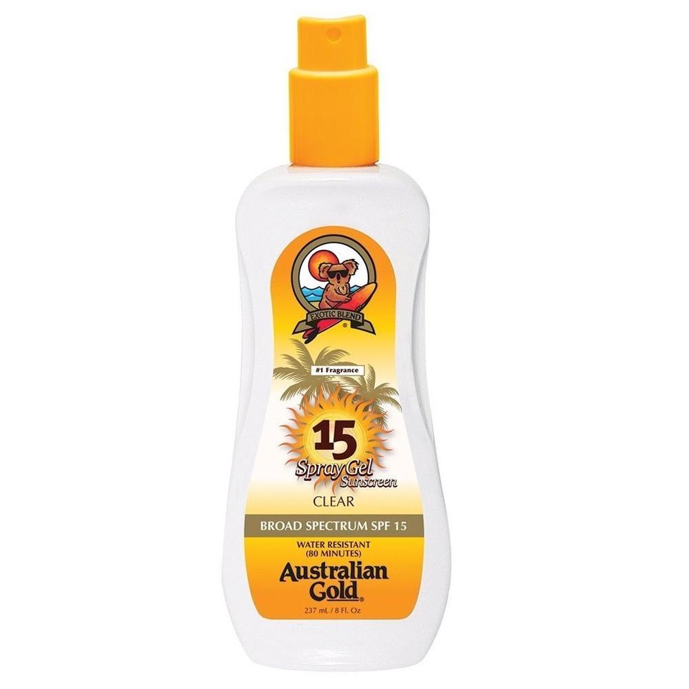 Купить Australian Gold SPF Солнцезащитный Лосьон для загара SPF15 Spray Gel 237 мл