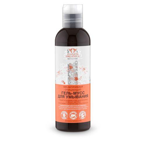 Купить Планета органика Гель-мусс для умывания для всех типов кожи очищающий 200мл, Planeta Organica