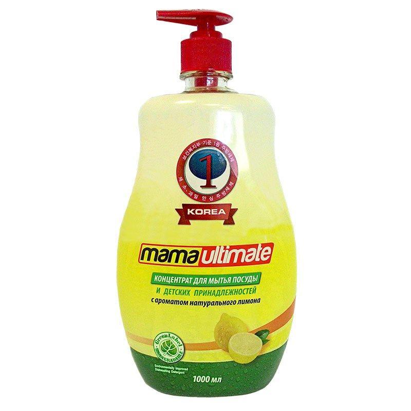 Купить Mama Ultimate Лимон Концентрат для мытья посуды 1000мл флакон