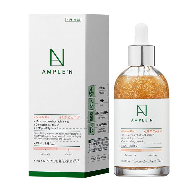 Купить Amplen Peptide Shot Ampoule Омолаживающая ампула с пептидами 100мл, AMPLE:N