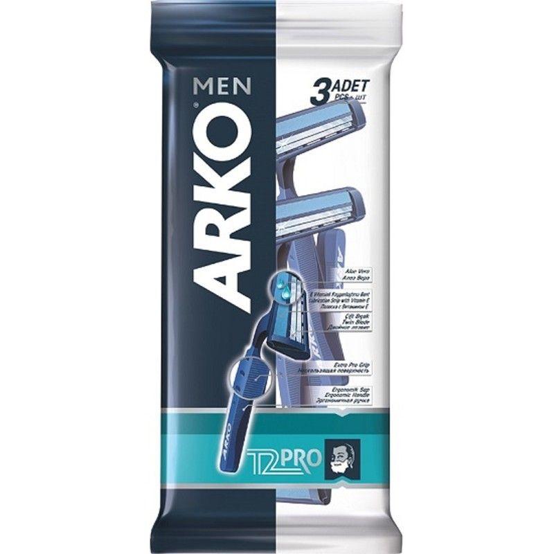 Arko MEN Станок для бритья T2 PRO 2 лезвия 3шт от Лаборатория Здоровья и Красоты