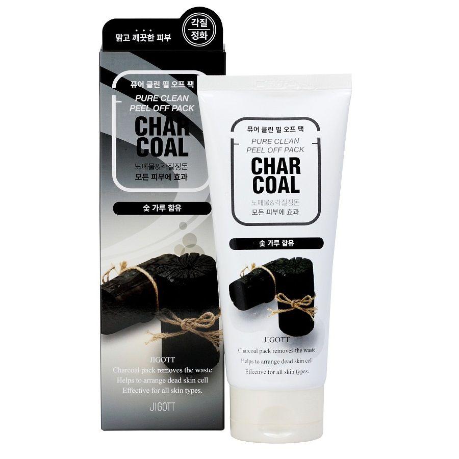 Купить Jigott Charcoal Pure Очищающая маска-пленка с древесным углем 180мл