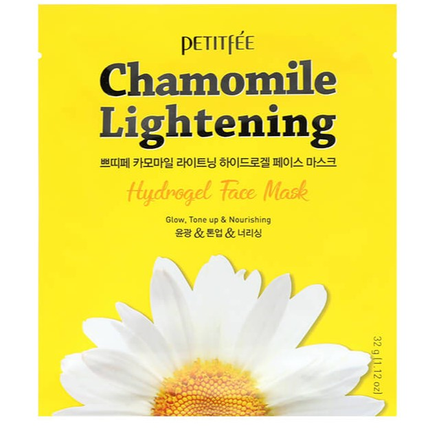 Купить Petitfee Маска для лица гидрогелевая Ромашка Chamomile Lightening Hydrogel Face Mask 32г