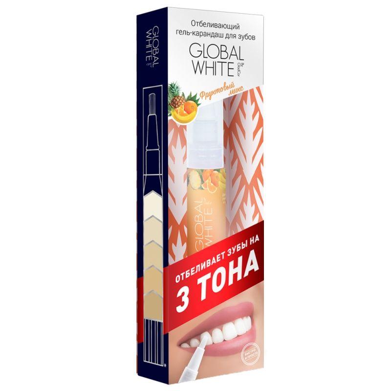 Global white Отбеливающий карандаш-апликатор со вкусом Фруктовый микс 5мл