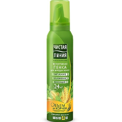Чистая Линия Пенка для укладки волос Объем от корней 150мл.