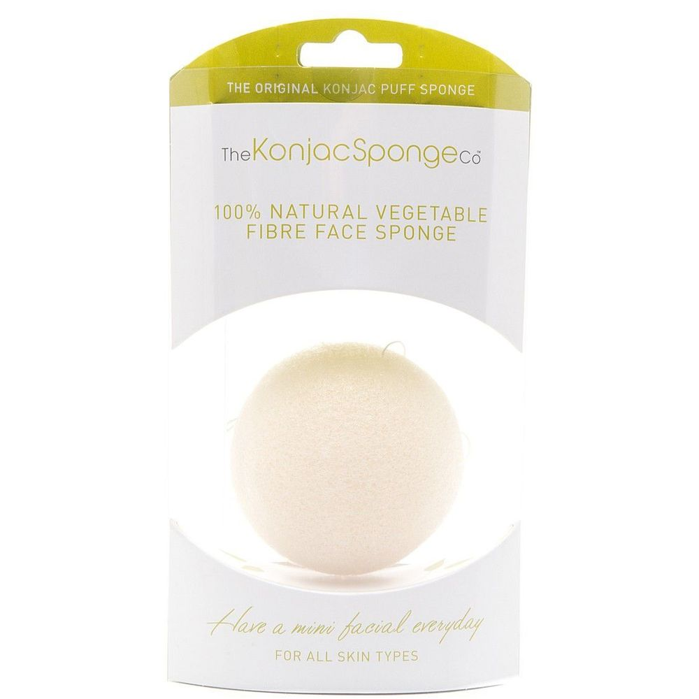 Купить The Konjac Sponge Спонж Для Умывания Лица Premium Facial Puff Pure White 100% Без Добавок