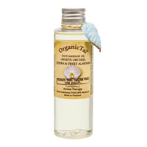 Купить OrganicTai Масло массажное для лица Белая орхидея жожоба и сладкий миндаль 120мл