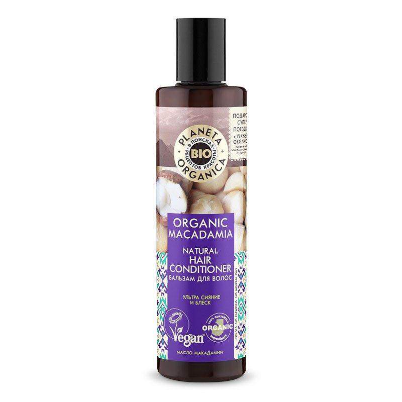 Купить Планета органика Organic Macadamia бальзам для волос натуральный 280 мл, Planeta Organica
