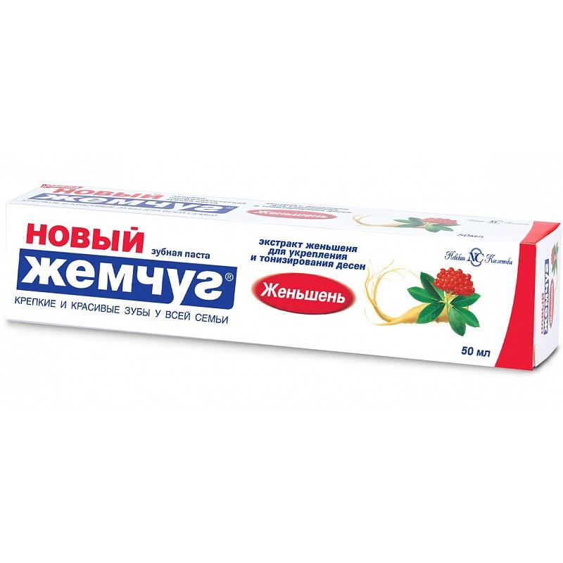 Новый жемчуг Зубная паста Женьшень 50мл