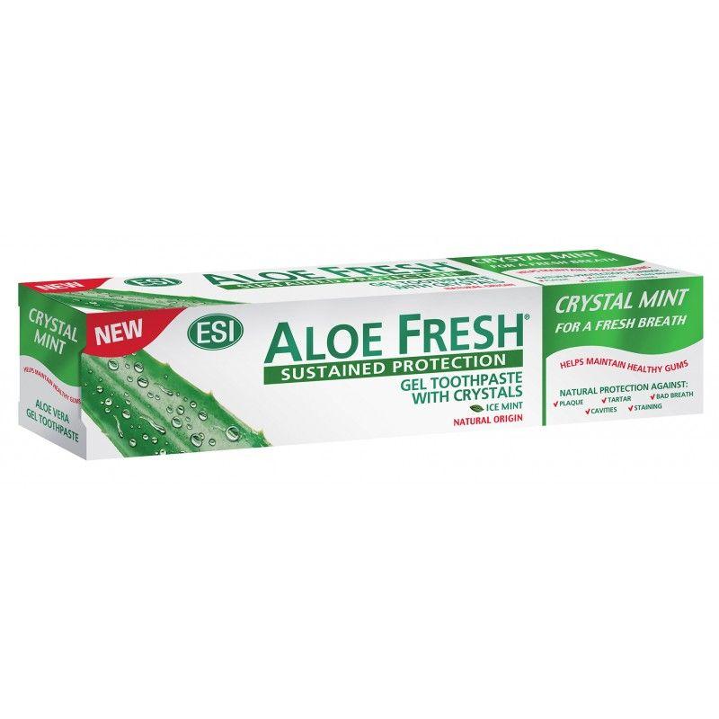 Купить Esi Aloe Fresh Crystal Mint Гелевая зубная паста 100мл