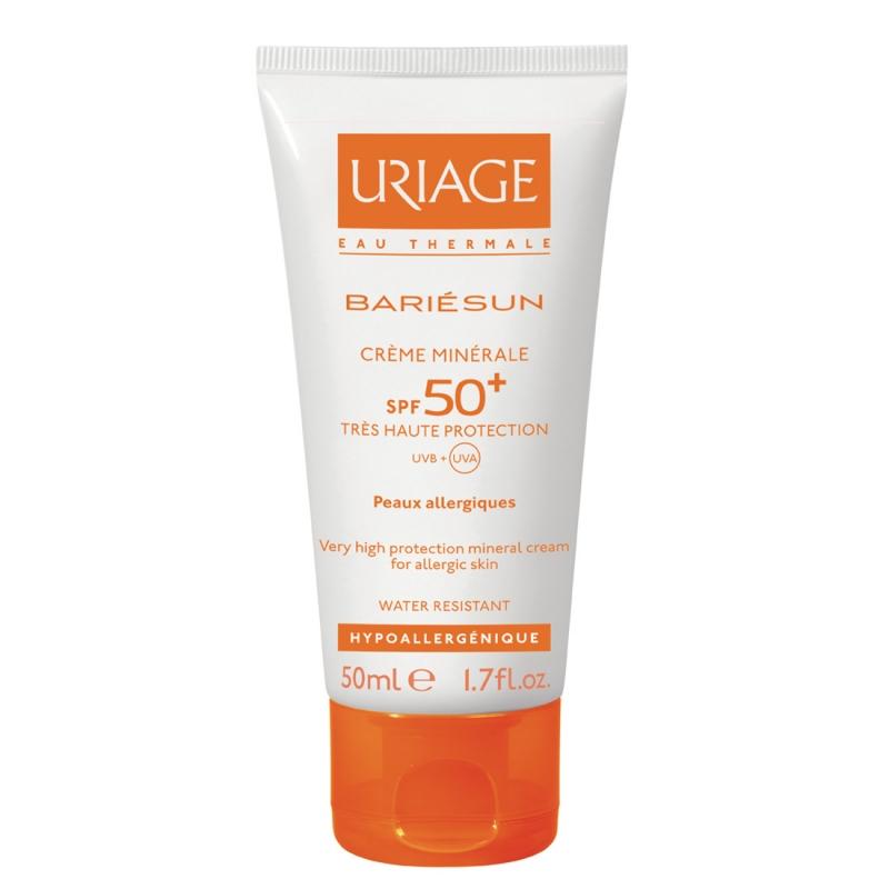 Uriage (Урьяж) Барьесан SPF50+ Минеральный солнцезащитный крем без ароматизаторов 50 мл