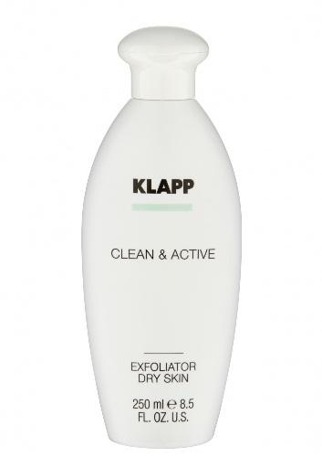 Klapp Clean & active Эксфолиатор для сухой кожи, 250 мл