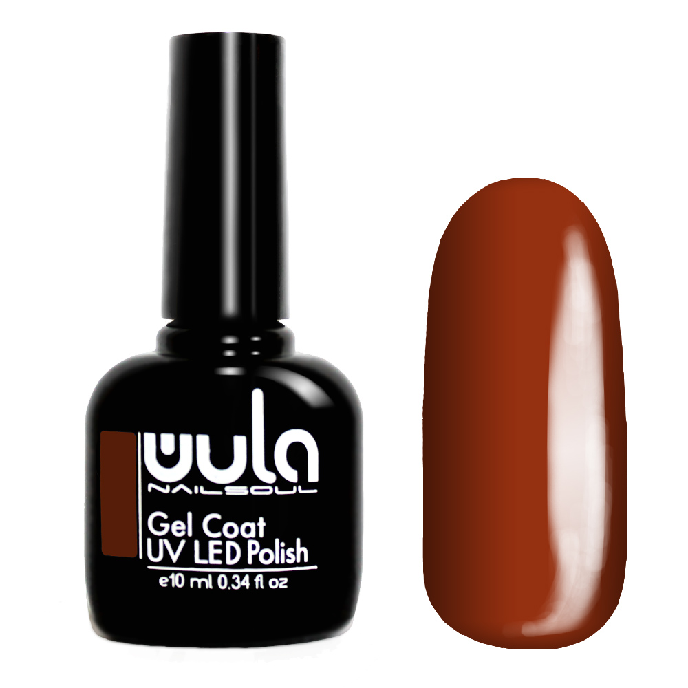Wula nailsoul гель лак 10мл тон 375 медно-коричневый фото