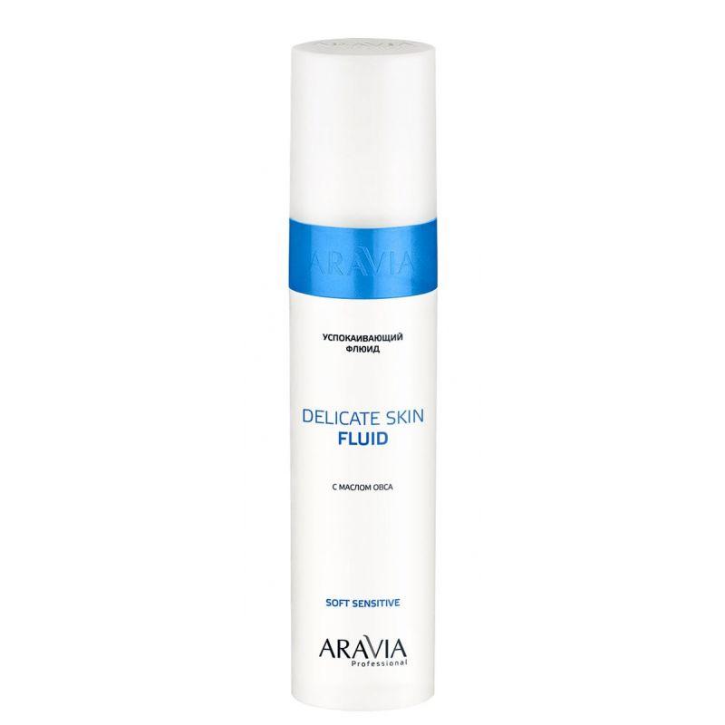 Купить Aravia Флюид успокаивающий с маслом овса для лица и тела Delicate Skin Fluid 250мл, Aravia Professional