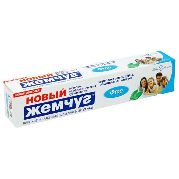 Новый жемчуг Зубная паста Фтор 100мл