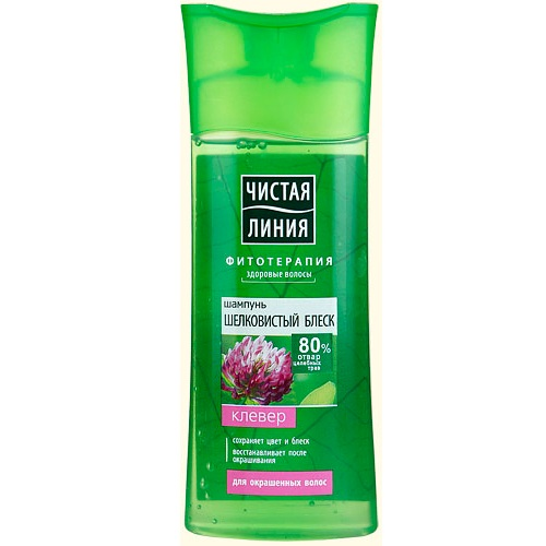Купить Чистая Линия Шампунь для окрашенных волос на отваре целебных трав Шелковистый блеск Клевер 250мл