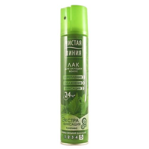 Чистая Линия Лак для укладки волос Экстрафиксация 200мл.