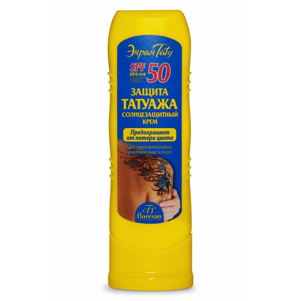 Купить Floresan Солнцезащитный крем Защита татуажа SPF50 125мл
